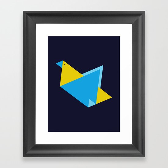 Triangle Bird Framed Art Print