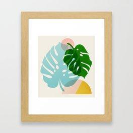 Abstraction_PLANTS_01 Framed Art Print