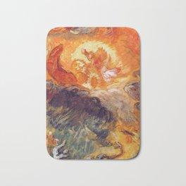 "Eugène Delacroix ""Apollo slays Python"" Bath Mat"