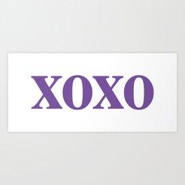 Purple XOXO Kunstdrucke