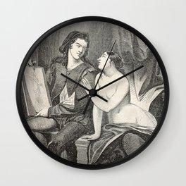Raphael and the Fornarina Wall Clock