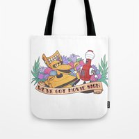 heymonster Tote Bags featuring MST3K by heymonster