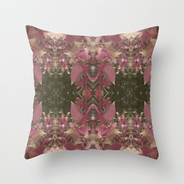 Red Shiso Warm Tones Pattern Throw Pillow