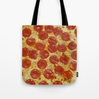 pizza Tote Bags featuring Pizza by Dani Mininancy