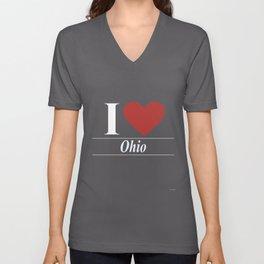 I Love Ohio Unisex V-Neck