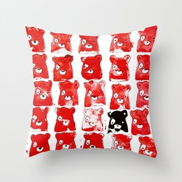 Bear and Repeat Throw Pillow