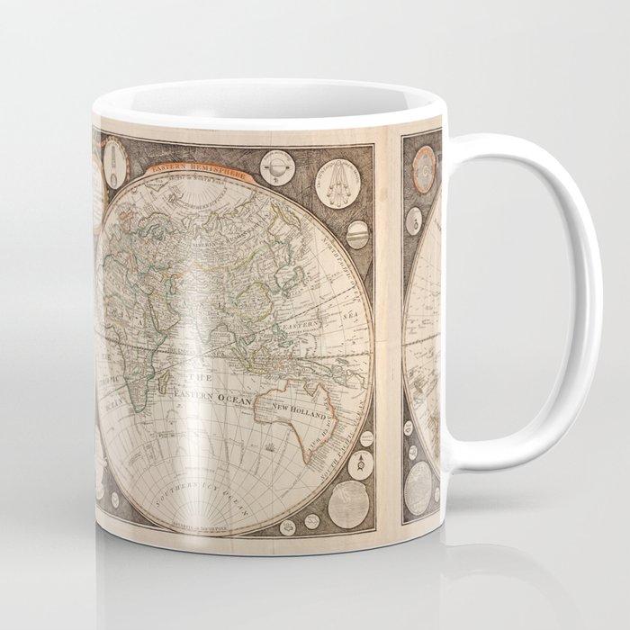 World Map Coffee Mug By Vintagemaps Society6