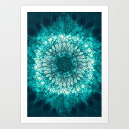 Emerald Mandala Art Print