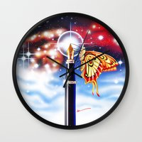 madoka magica Wall Clocks featuring MAGICA by AM Santos