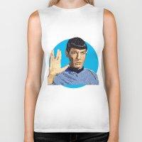 spock Biker Tanks featuring Spock by Connor Corbett