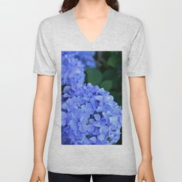 Purple Hydrangeas Unisex V-Neck