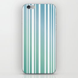 Chalky Pale ocean green stripes iPhone Skin