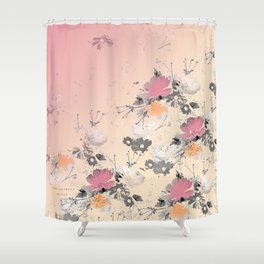 ombre floral - all Shower Curtain