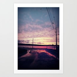 The end of the road  Art Print