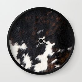 Cowhide Texture Wall Clock