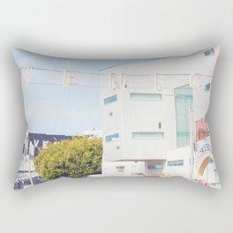 Vintage Venice Beach California Print Rectangular Pillow