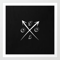 yolo Art Prints featuring YOLO by McKenzie Nickolas