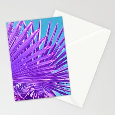 purple palm leaf IV Stationery Cards