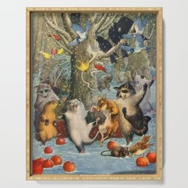 """""""Christmas in the Woods"""" by Henry Clayton Hopkins 1920 Serving Tray"""