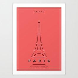 Minimal Paris City Poster Art Print