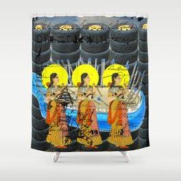 1, 2, 3 V Shower Curtain