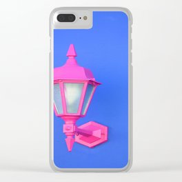 Pink Lamp Retro Clear iPhone Case