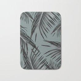 Black Palm Leaves Dream #4 #tropical #decor #art #society6 Bath Mat