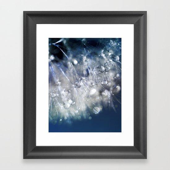 New Year's Blue Champagne Framed Art Print