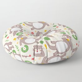 Significant otters Floor Pillow