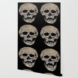 Full Skull With Rotting Flesh Vector Wallpaper