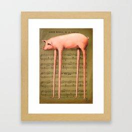 Mlle Cochon Framed Art Print