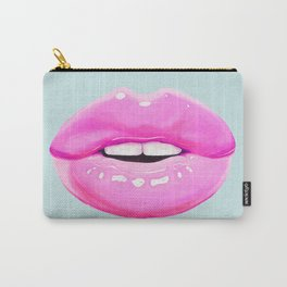 Fashion pink lips Carry-All Pouch