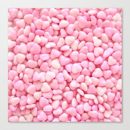 Pink Candy Hearts Canvas Print