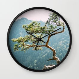 Sokolica Mountain Pine Tree Wall Clock