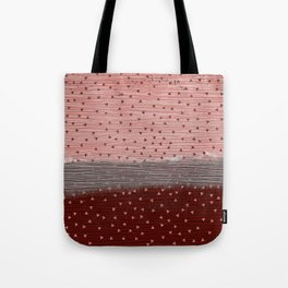 257 20 Pink and Red Triangles Tote Bag