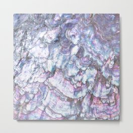 Mermaid Shell Beautiful Pearly Surface #decor #society6 #buyart Metal Print