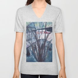 Edvard Munch - Winter Night, Ekely Unisex V-Neck