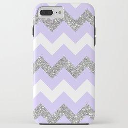 purple glitter chevron iPhone Case