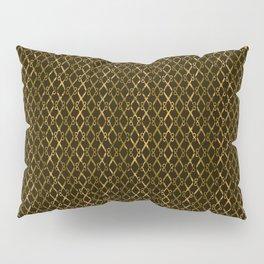 Golden Brown Scissor Stripes Pillow Sham
