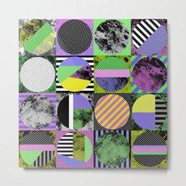 Pop Art Grid - Abstract, geometric style artwork Metal Print