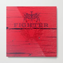 Fighter Metal Print