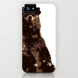 Bear in Top Hat iPhone Case