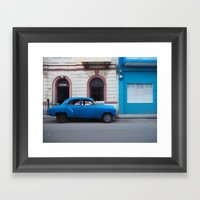 Let's drive in Havana Framed Art Print