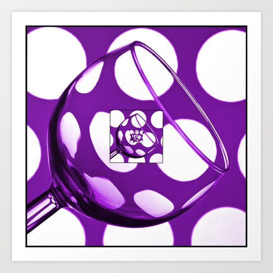 The Eternal Glass Purple Art Print