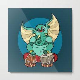 Ganesha Tabla Metal Print