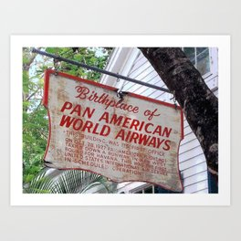 Historic Airlines Sign Art Print