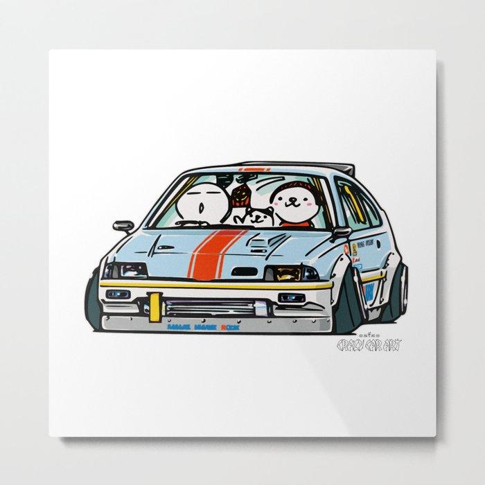 Crazy Car Art 0151 Metal Print