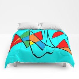 Abs blue multicolor Comforters