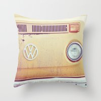 vw Throw Pillows featuring vw by shannonblue