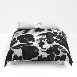 Black And White Wet Paint Modern Pattern Photography Comforters